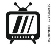 campaign tv set icon. simple... | Shutterstock .eps vector #1719260680