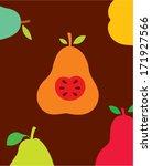 beautiful pear wallpaper | Shutterstock .eps vector #171927566