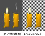 realistic image of a burning... | Shutterstock .eps vector #1719287326