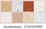 terrazzo texture classic... | Shutterstock .eps vector #1719292090