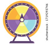 wheel of fortune. colorful...   Shutterstock .eps vector #1719293746