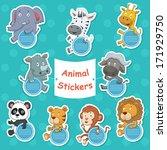 a vector illustration of animal ... | Shutterstock .eps vector #171929750