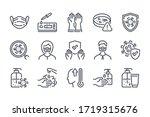 virus and coronavirus related... | Shutterstock .eps vector #1719315676