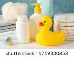 baby hygiene accessories on...   Shutterstock . vector #1719330853