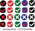 check and cross marks vector... | Shutterstock .eps vector #1719343486