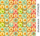 seamless background   food... | Shutterstock .eps vector #171934628