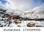 A Hiker Crossing Glenridding...