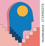 insomnia  psychology mental... | Shutterstock .eps vector #1719352273