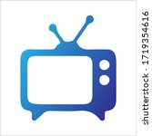 tv icon in trendy flat style...