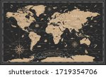 world map vintage black golden... | Shutterstock .eps vector #1719354706