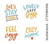 set of hand drawn lettering... | Shutterstock .eps vector #1719384346