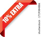 Percent Extra Off 3d Sign On...