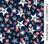 pattern for president day with...   Shutterstock .eps vector #1719384913