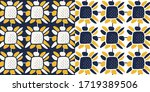hand drawn floral pattern in...   Shutterstock .eps vector #1719389506