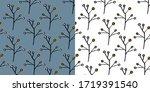 elegant scandinavian pattern...   Shutterstock .eps vector #1719391540