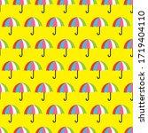 seamless umbrella slice... | Shutterstock .eps vector #1719404110