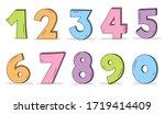cute number character zero one... | Shutterstock .eps vector #1719414409