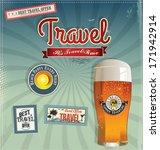 vintage travel background | Shutterstock .eps vector #171942914