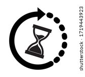 hourglass time icon   vector... | Shutterstock .eps vector #1719443923