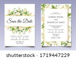elegant floral wedding... | Shutterstock .eps vector #1719447229