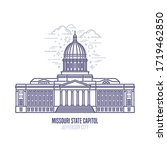 missouri state capitol located... | Shutterstock .eps vector #1719462850