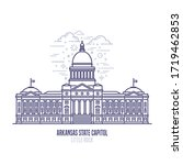 arkansas state capitol located... | Shutterstock .eps vector #1719462853