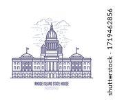 rhode island state house... | Shutterstock .eps vector #1719462856