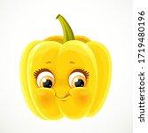 cute little emoji yellow bell... | Shutterstock .eps vector #1719480196