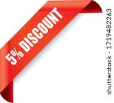 discount 3d sign on red...   Shutterstock .eps vector #1719482263