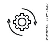 rotating gear icon  settings... | Shutterstock .eps vector #1719485680
