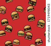 Burger Seamless Pattern. Bright ...