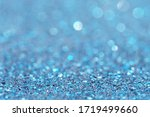 Blue Of Golden Glitter Abstract ...