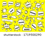 set of speech bubbles. set of... | Shutterstock .eps vector #1719500290