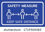 safety measure keep a safe... | Shutterstock .eps vector #1719504583