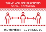 thank you for practicing social ... | Shutterstock .eps vector #1719533710