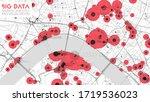 big data in modern city.... | Shutterstock .eps vector #1719536023