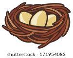 eggs and nest | Shutterstock .eps vector #171954083