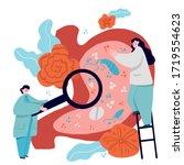 gastroenterology concept. man... | Shutterstock .eps vector #1719554623