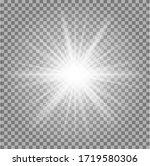 white glowing light burst... | Shutterstock .eps vector #1719580306