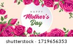 happy mother's day greetings.... | Shutterstock .eps vector #1719656353
