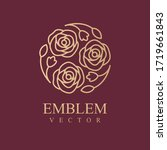 nature logo. floral logo.... | Shutterstock .eps vector #1719661843