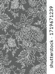 floral seamless pattern. flower ... | Shutterstock .eps vector #1719671239