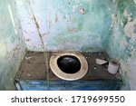 Old Abandoned Latrine With...