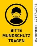 bitte mundschutz tragen  ...   Shutterstock .eps vector #1719713746