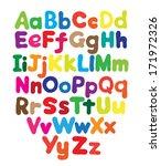 alphabet bubble colored hand...   Shutterstock .eps vector #171972326
