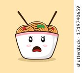 ramen noodle bowl surprised...   Shutterstock .eps vector #1719740659