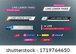 lower third tv news bars set... | Shutterstock .eps vector #1719764650