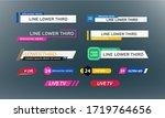 lower third tv news bars set... | Shutterstock .eps vector #1719764656