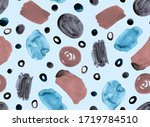 hand painting abstract... | Shutterstock . vector #1719784510