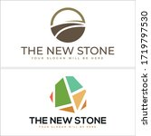 brown green logo sun street... | Shutterstock .eps vector #1719797530